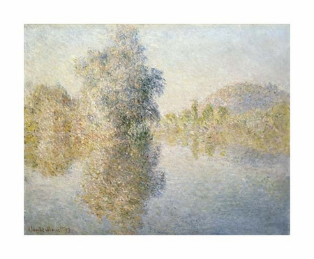 "Claude Monet Fine Art Open Edition Giclée:""Early Morning on the Seine at Giverny"""