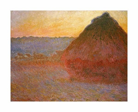 "Claude Monet Fine Art Open Edition Giclée:""Haystacks, Pink and Blue Impressions"""