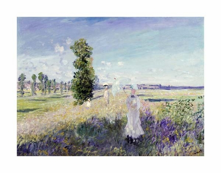 "Claude Monet Fine Art Open Edition Giclée:""La Promenade at Argenteuil"""