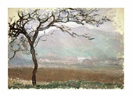 """Claude Monet Fine Art Open Edition Giclée:""""Landscape of Giverny (Paysage a Giverny), 1887"""""""