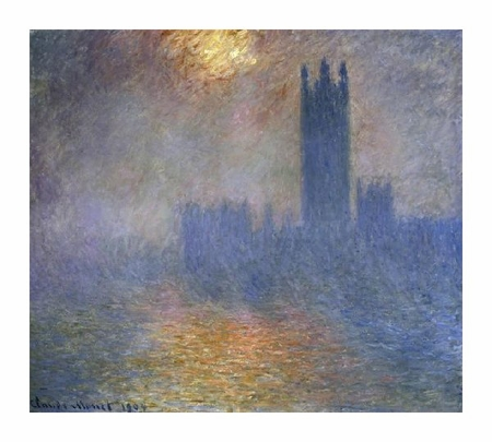"Claude Monet Fine Art Open Edition Giclée:""London Parliament (Patch of Sun in the Fog)"""