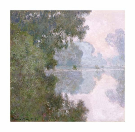 """Claude Monet Fine Art Open Edition Giclée:""""Morning on the Seine, Near Giverny"""""""
