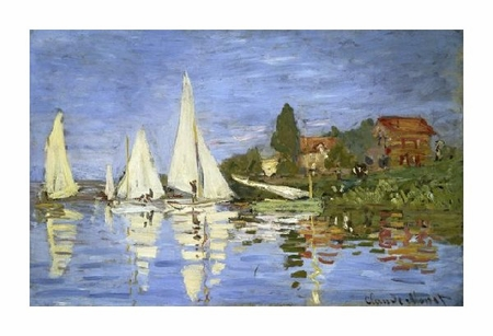 "Claude Monet Fine Art Open Edition Giclée:""Regatta at Argenteuil"""