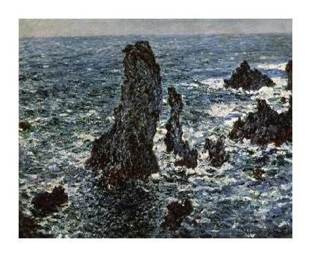 "Claude Monet Fine Art Open Edition Giclée:""Rocks at Belle Isle"""