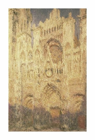"Claude Monet Fine Art Open Edition Giclée:""Rouen Cathedral in the Evening"""
