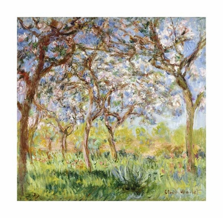 "Claude Monet Fine Art Open Edition Giclée:""Spring at Giverny"""