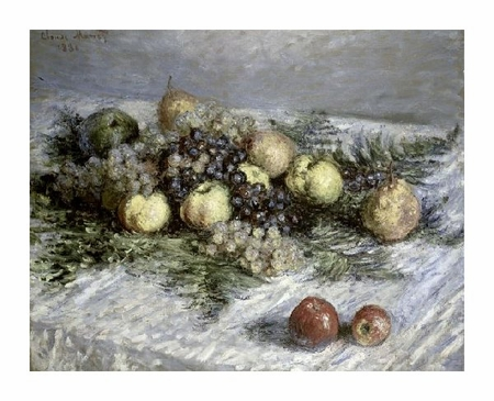 "Claude Monet Fine Art Open Edition Giclée:""Still Life with Pears and Grapes"""