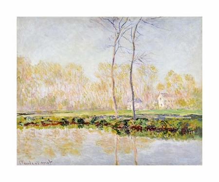 "Claude Monet Fine Art Open Edition Giclée:""The Banks of the River Epte at Giverny"""