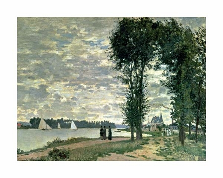 "Claude Monet Fine Art Open Edition Giclée:""The Banks of the Seine at Argenteuil"""