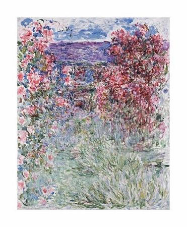 """Claude Monet Fine Art Open Edition Giclée:""""The House in the Roses"""""""