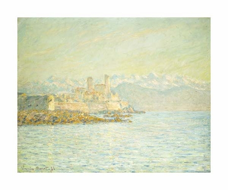 """Claude Monet Fine Art Open Edition Giclée:""""The Old Fort at Antibes"""""""