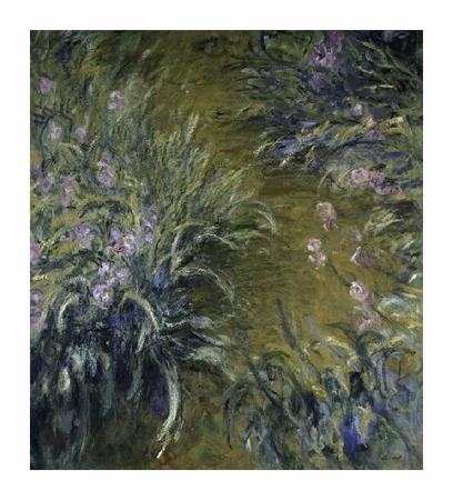 "Claude Monet Fine Art Open Edition Giclée:""The Path Through the Irises"""