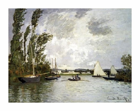 """Claude Monet Fine Art Open Edition Giclée:""""The Small Branch of the Seine at Argenteuil"""""""