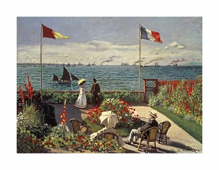 "Claude Monet Fine Art Open Edition Giclée:""The Terrace at Sainte-Adresse"""