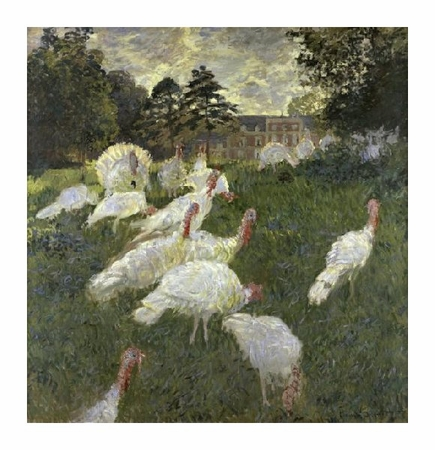 """Claude Monet Fine Art Open Edition Giclée:""""The Turkeys; Chateau of Rottembourg, at Montgeron"""""""