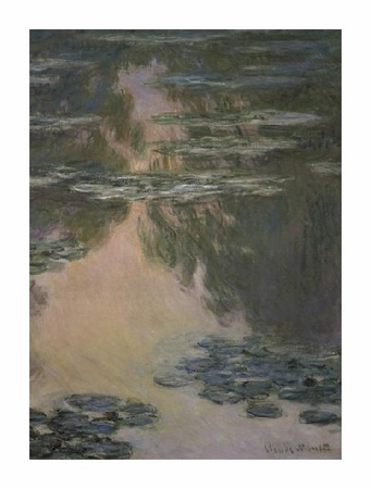 "Claude Monet Fine Art Open Edition Giclée:""Water Lilies (with Willows)"""