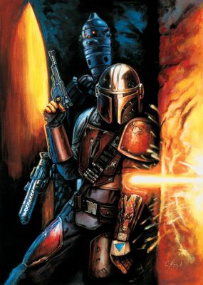 """Claudio Aboy Star Wars Limited Edition Art:""""Take Cover"""""""