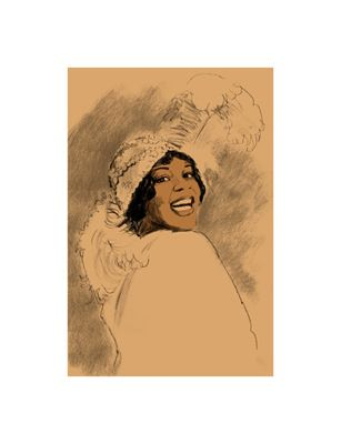 "Clifford Faust Limited Edition Pencil Signed Artist's Proof Giclee:""Bessie Smith"""