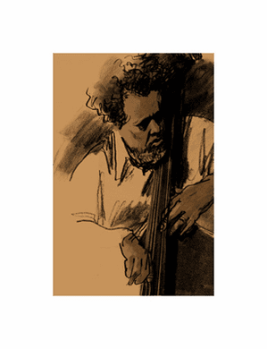 "Clifford Faust Limited Edition Pencil Signed Artist's Proof Giclee:""Charles Mingus"""