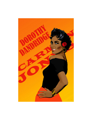 """Clifford Faust Limited Edition Pencil Signed Artist's Proof Giclee:""""Dorothy Dandridge"""""""