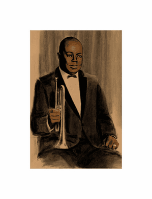 """Clifford Faust Limited Edition Pencil Signed Artist's Proof Giclee:""""Joe King Oliver"""""""