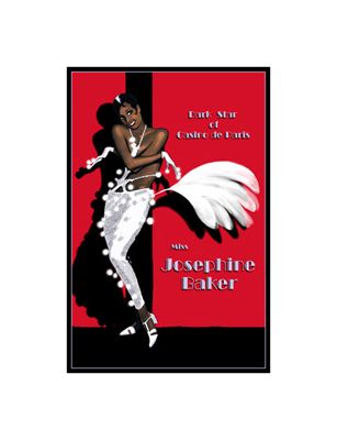 """Clifford Faust Limited Edition Pencil Signed Artist's Proof Giclee:""""Josephine Baker"""""""