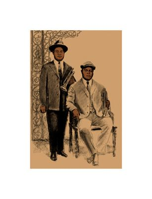"""Clifford Faust Limited Edition Pencil Signed Artist's Proof Giclee:""""Louis and Joe"""""""