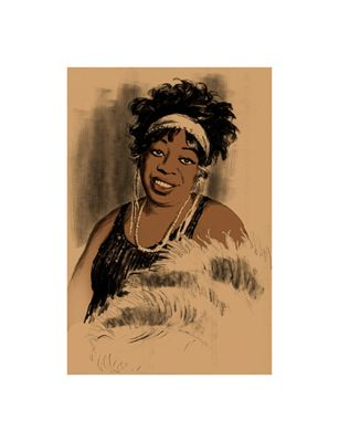 "Clifford Faust Limited Edition Pencil Signed Artist's Proof Giclee:""Ma Rainey"""
