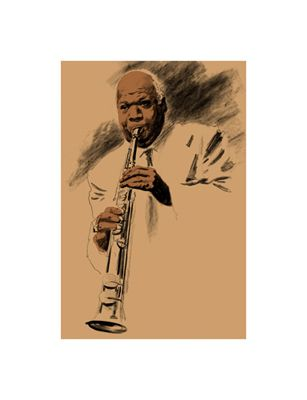 """Clifford Faust Limited Edition Pencil Signed Artist's Proof Giclee:""""Sidney Bechet"""""""