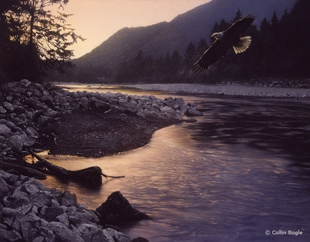 """Collin Bogle Handsigned and Numbered Limited Edition :""""Edge of Tranquility"""""""