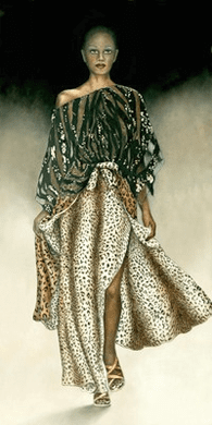 """Consuelo Gamboa Limited Edition Signed Giclee On Canvas Ed. 149:""""Catwalk"""""""