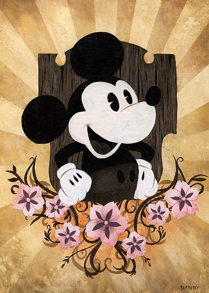 """Daniel Arriaga Signed and Numbered Hand-Textured Giclée on Canvas: """"The Mouse"""""""
