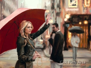 """Daniel Del Orfano Limited Edition Hand Embellished Giclee on Canvas:""""Wait I Have to Call You Back"""" - Click to enlarge"""