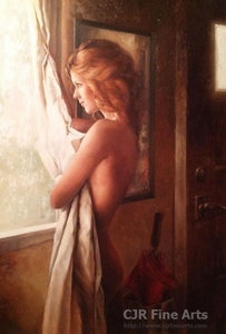 """Daniel Del Orfano Limited Edition Hand Embellished Giclee on Canvas:""""Waiting"""" - Click to enlarge"""