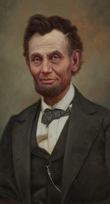 "Daniel Horne Open Edition Giclee on Canvas:""President Abraham Lincoln"""