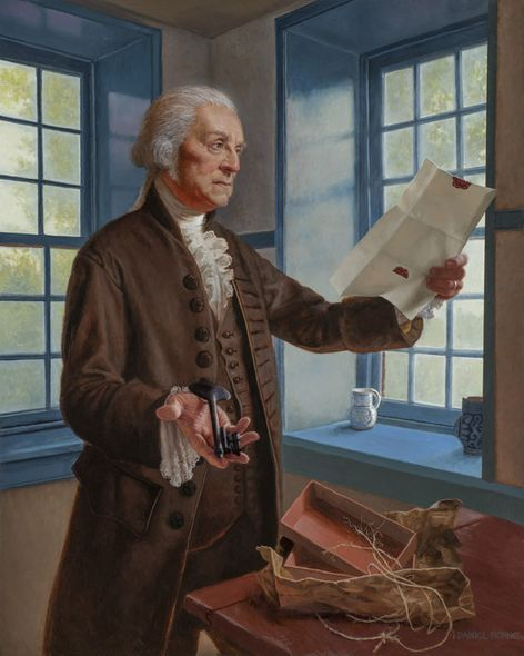"""Daniel Horne Open Edition Giclee on Canvas:""""Washington and the Key"""""""