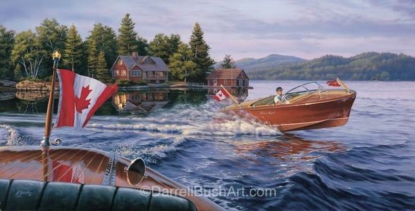 """Darrell Bush Hand Signed and Numbered Limited Edition Giclee:""""In the Wake of a Legend 