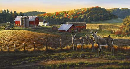 "Darrell Bush Handsigned and Numbered Limited Edition Print: ""Harvest Time"""