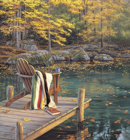 """Darrell Bush Handsigned and Numbered Limited Edition Print:""""Reflection on Golden Pond"""""""