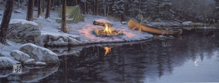 """Darrell Bush Handsigned & Numbered Limited Edition Print:""""Back in the Pines"""""""