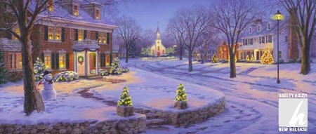 "Darrell Bush Handsigned Open Edition Print:""Home for the Holidays"""