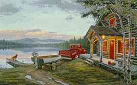 "Darrell Bush Limited Edition Print: ""Cabin Fever"""