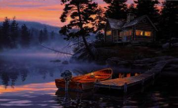 "Darrell Bush Limited Edition Print: ""Silent Shores"""