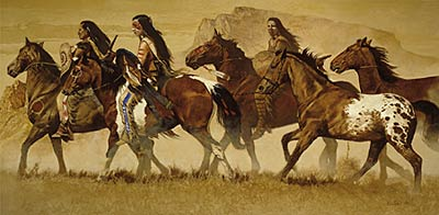 """Daryl Poulin Limited Edition Artist Proof Print:""""Return of the Stolen Pony"""""""