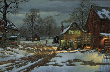 """Dave Barnhouse Handsigned and Numbered Limited Edition Print:""""Country Partners"""""""