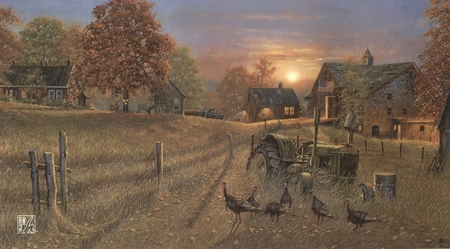 """Dave Barnhouse Handsigned & Numbered Limited Edition Print:""""Coming Home"""""""