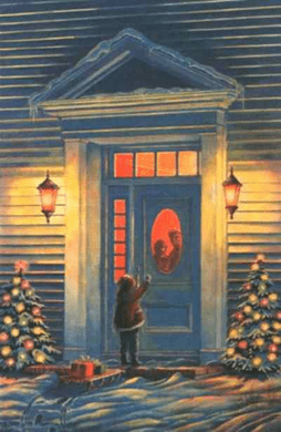 """David HoddinnottHandsigned & Numbered Limited Edition Print:""""Nancy and Poppy's Christmas Gifts """""""