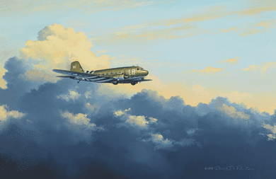 """David Poole Hand Signed and Numbered Limited Edition: """"D-Day Dakota"""""""