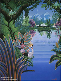 "David Utz Limited Edition Paper Print:""The Magic Lake"""