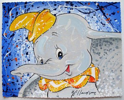 """David Willardson Hand Signed Limited Edition Serigraph:""""Dumbo, Keep It Under Your Hat"""""""